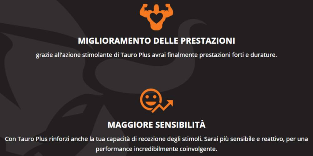 tauro plus benefici