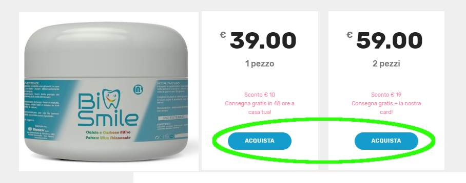 biosmile prezzo