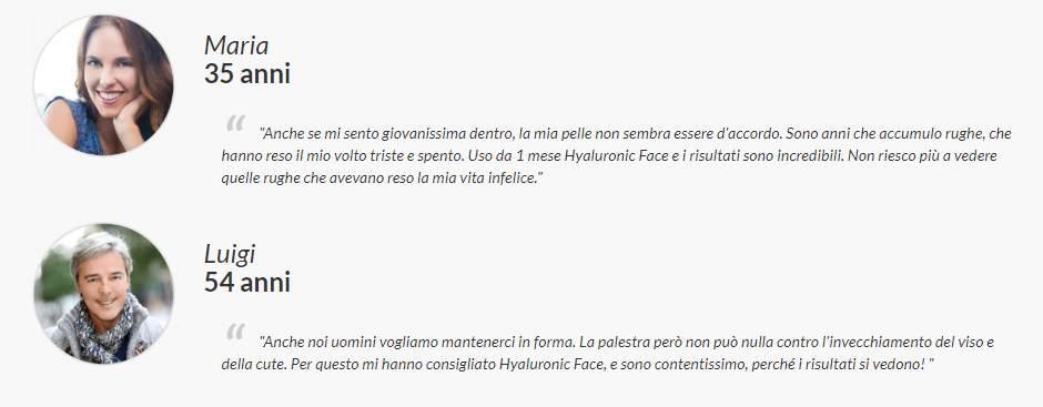 opinioni su hyaluronic face