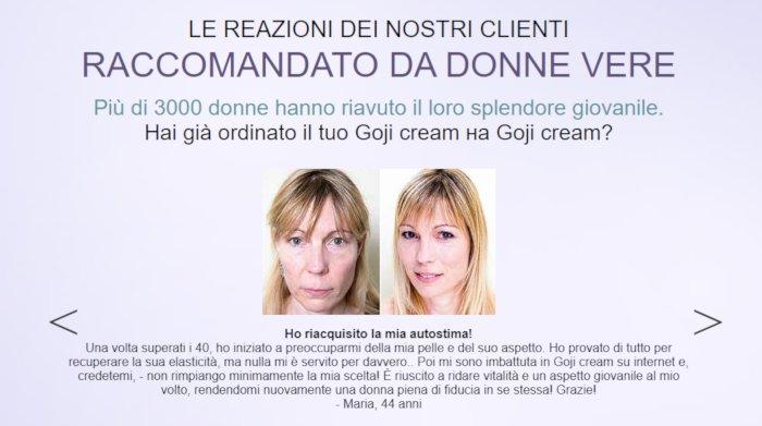 Goji Cream opinioni e testimonianze