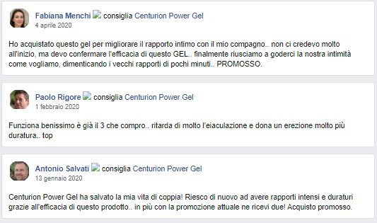 centurion power gel opinioni