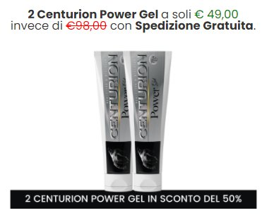 centurion power gel prezzo